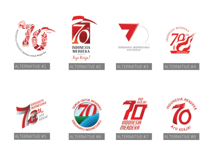 Logo HUT RI70 Alternatif dari dgi